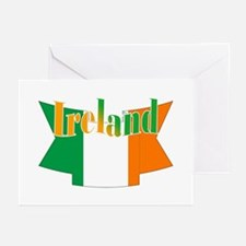 The Ireland flag ribbon Greeting Cards (Package of