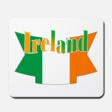 The Ireland flag ribbon Mousepad