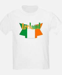 The Ireland flag ribbon Kids T-Shirt