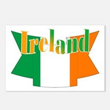 The Ireland flag ribbon Postcards (Package of 8)