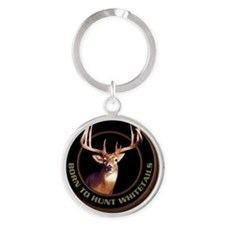 Whitetail Deer Round Keychain