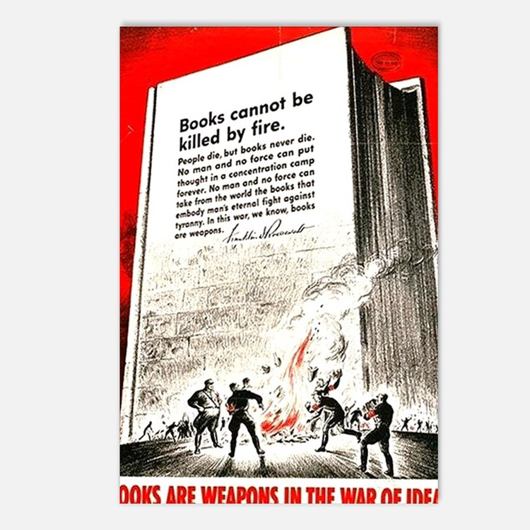 Books are weapons in the  Postcards (Package of 8)