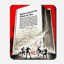 Books are weapons in the war of ideas Mousepad