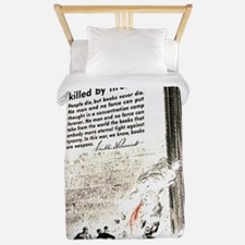 Books are weapons in the war of ideas Twin Duvet