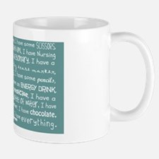 Everything I Need Teal Shoulder Bag Mug