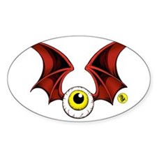 cropped flying eyeball Decal