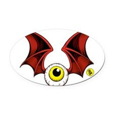 cropped flying eyeball Oval Car Magnet