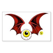cropped flying eyeball Decal