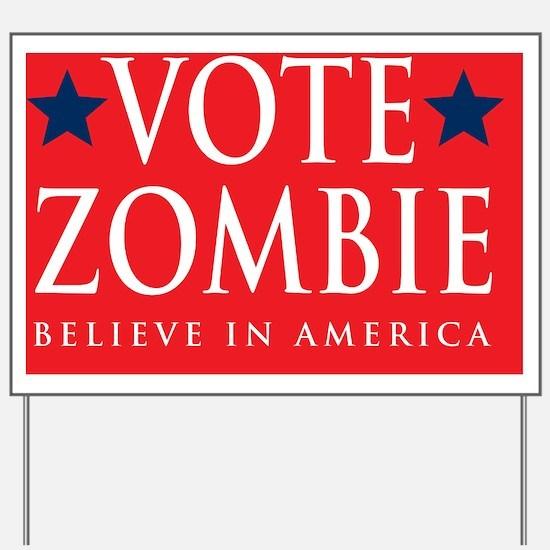 Vote Zombie 2 Banner Yard Sign