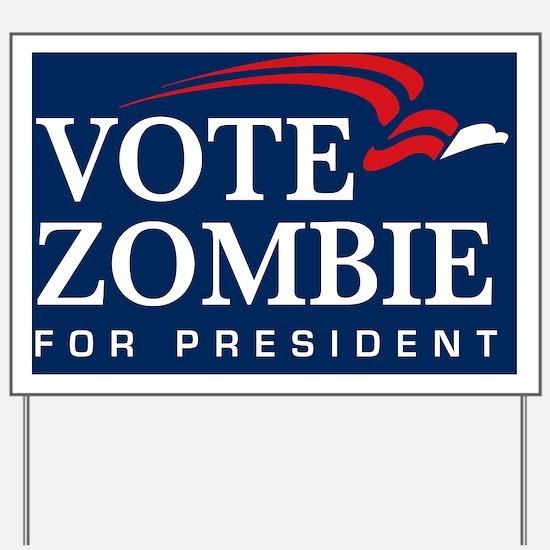 Vote Zombie Banner 3 Yard Sign