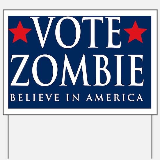 Vote Zombie Banner 4 Yard Sign