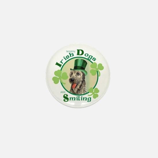 St. Patrick Irish Wolfhound Mini Button