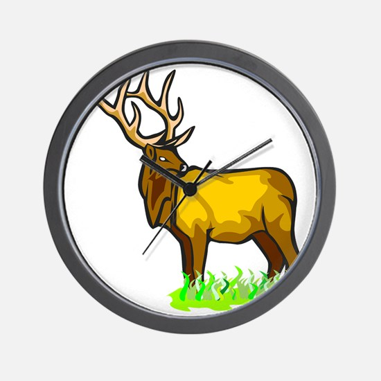 Mountain Elk Wall Clock