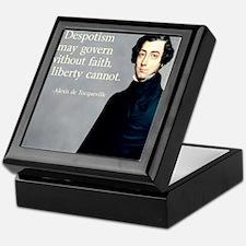 de Tocqueville Faith Quote Keepsake Box