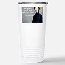 de Tocqueville Faith Quote Travel Mug
