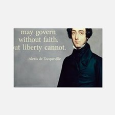 de Tocqueville Faith Quote Rectangle Magnet