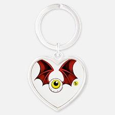 Flying Eyeball Heart Keychain