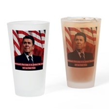 Ronald Reagan Government Quote Drinking Glass