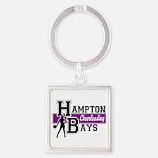 Hampton Bays Cheerleading Square Keychain