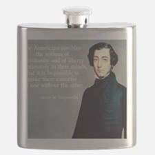 American Christianity Quote Flask
