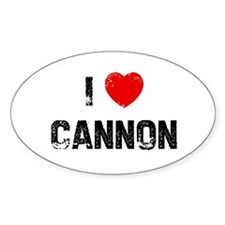 I * Cannon Oval Decal