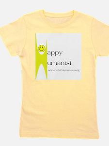 Yellow Happy Humanist Girl's Tee