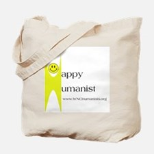 Yellow Happy Humanist Tote Bag