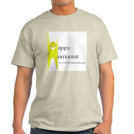 Yellow Happy Humanist Light T-Shirt