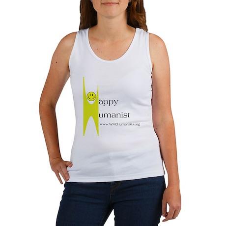 Yellow Happy Humanist Women's Tank Top