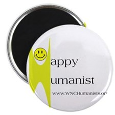 Yellow Happy Humanist Magnet