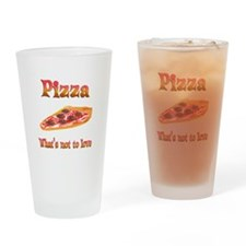 Pizza to Love Drinking Glass