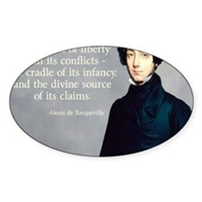 Alexis de Tocqueville Christianity Decal