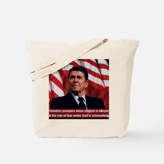Ronald Reagan Freedom Quote Tote Bag