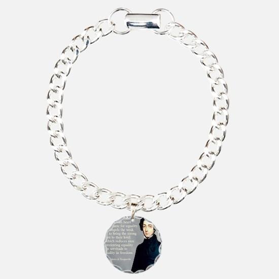 de Tocqueville Equality  Charm Bracelet, One Charm