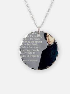 de Tocqueville Equality Quot Necklace Circle Charm