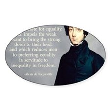 de Tocqueville Equality Quote Decal