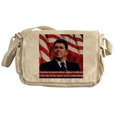 Ronald Reagan Freedom Quote Messenger Bag