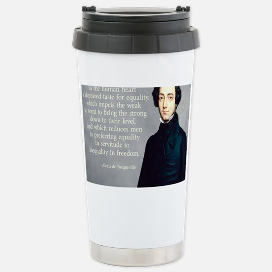 de Tocqueville Equality Quote Stainless Steel Trav