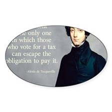 de Tocqueville Tax  Quote Decal