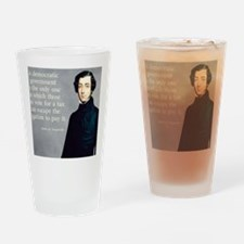 de Tocqueville Tax  Quote Drinking Glass