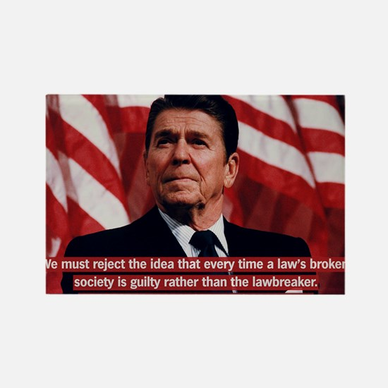 Reagan Individual Responsibility  Rectangle Magnet