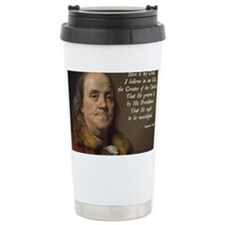 Benjamin Franklin Religion Travel Mug