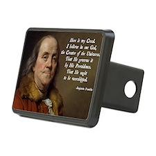 Benjamin Franklin Religion Hitch Cover