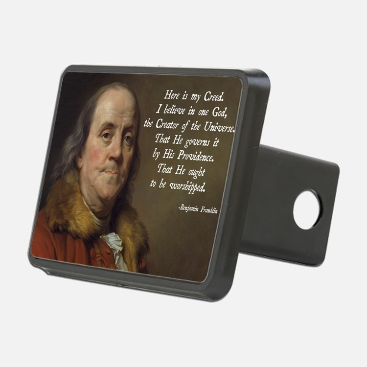 Benjamin Franklin Religion Hitch Cover