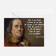Benjamin Franklin Religion Greeting Card
