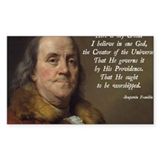 Benjamin Franklin Religion Decal
