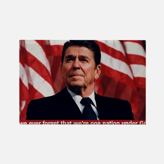 Reagan God Quote Rectangle Magnet