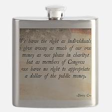 Davy Crockett Quote Flask