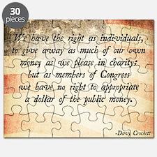 Davy Crockett Quote Puzzle
