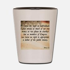 Davy Crockett Quote Shot Glass